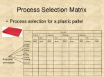 process selection matrix28