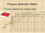 process selection matrix29
