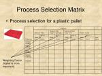 process selection matrix30