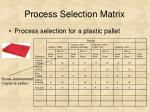 process selection matrix31