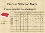 process selection matrix33