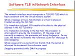 software tlb in network interface