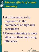 adverse effects of cream skimming