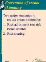prevention of cream skimming
