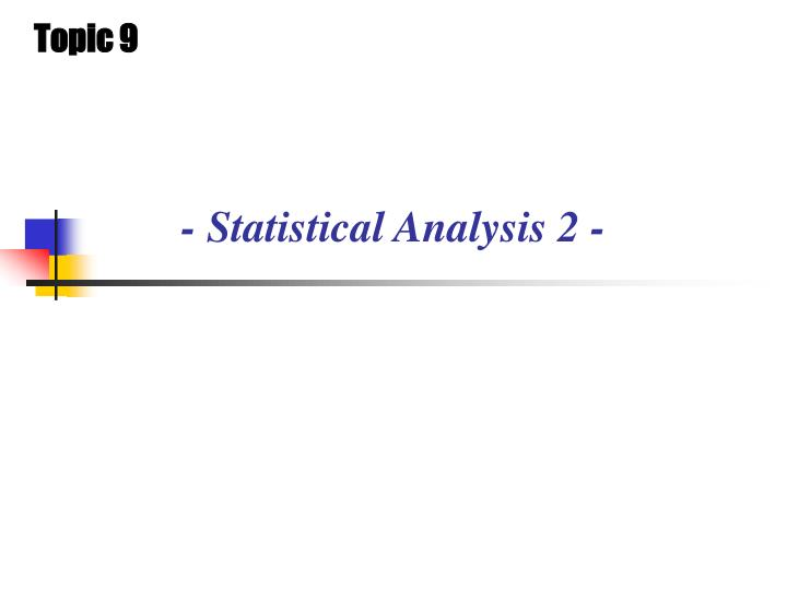 statistical analysis 2 n.