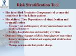 risk stratification tool14