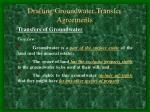 drafting groundwater transfer agreements12