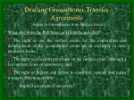 drafting groundwater transfer agreements19