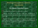 drafting groundwater transfer agreements36