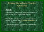 drafting groundwater transfer agreements9