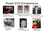 rowan ece entrepreneurs