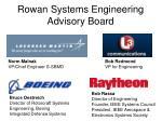 rowan systems engineering advisory board