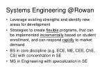 systems engineering @rowan