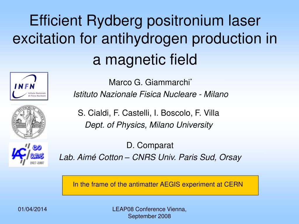 efficient rydberg positronium laser excitation for antihydrogen production in a magnetic field l.