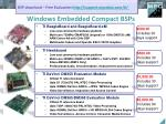 windows embedded compact bsps