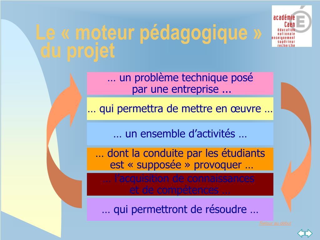 Le «moteur pédagogique»