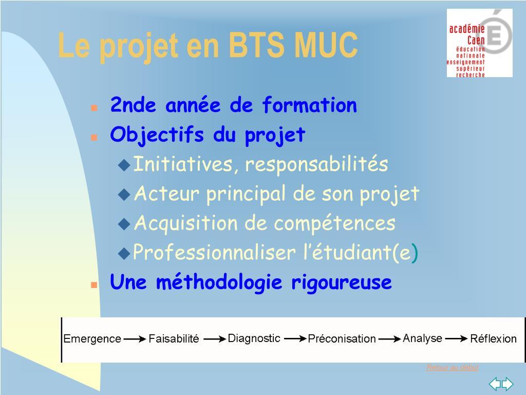 Le projet en BTS MUC