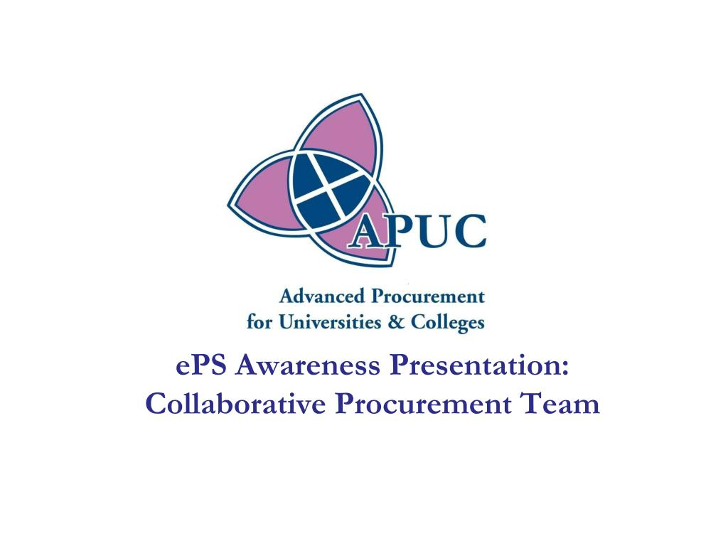 eps awareness presentation collaborative procurement team l.