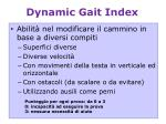 dynamic gait index