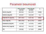 parametri bioumorali