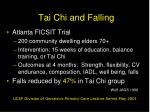 tai chi and falling