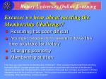 excuses we hear about meeting the membership challenge