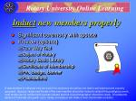 induct new members properly