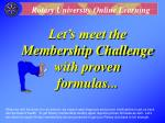 let s meet the membership challenge with proven formulas