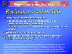 revitalize a small club23