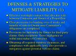dfenses strategies to mitigate liability 1
