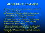 measure of damages