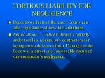 tortious liability for negligence