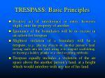 trespass basic principles