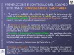 prevenzione e controllo del rischio biologico sorveglianza sanitaria