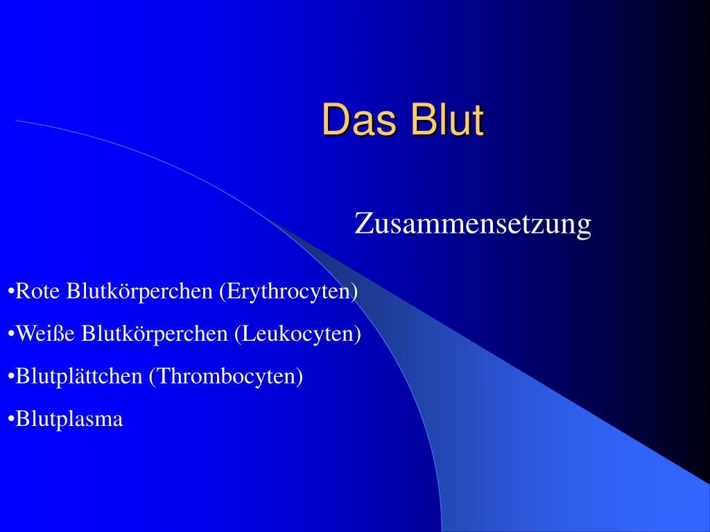 PPT - Das Blut PowerPoint Presentation - ID:511744