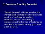 1 expository preaching demanded