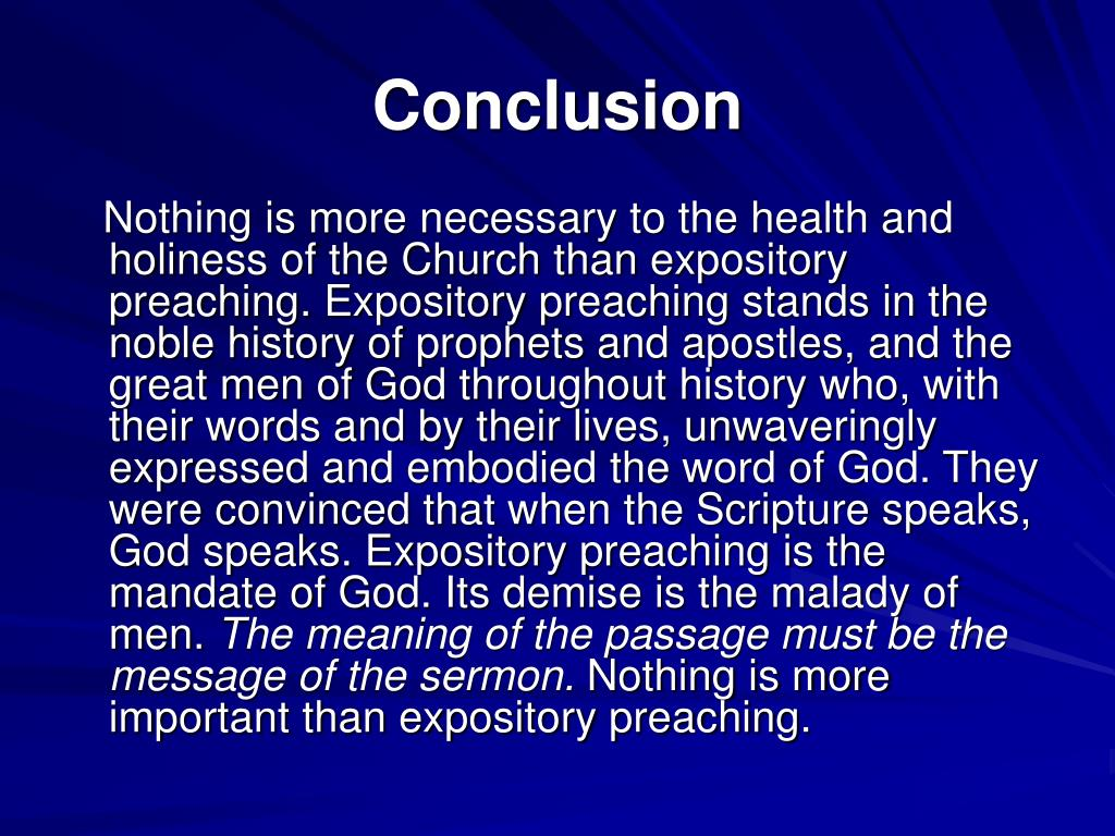 PPT - Preach the Word A Seminar on Expository Preaching PowerPoint