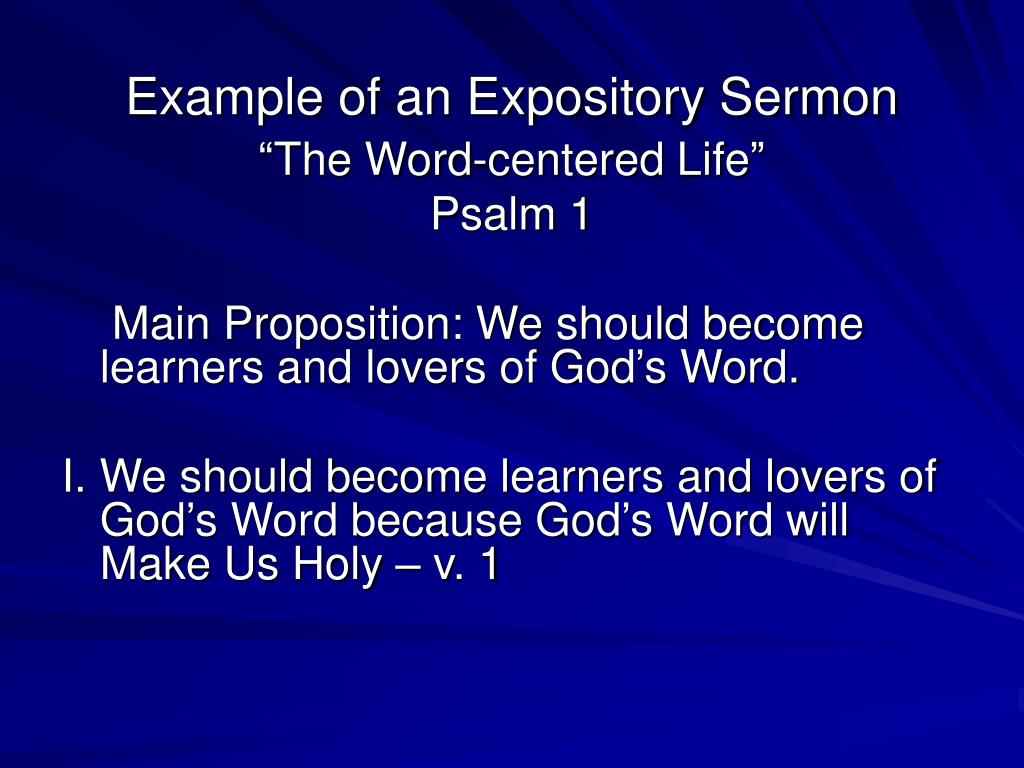 PPT - Preach the Word A Seminar on Expository Preaching