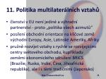 11 politika multilater ln ch vztah