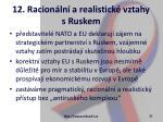 12 racion ln a realistick vztahy s ruskem