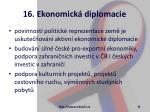 16 ekonomick diplomacie