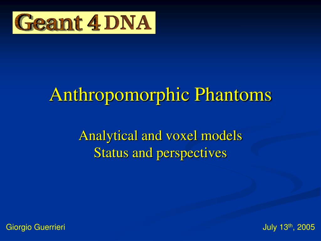 anthropomorphic phantoms analytical and voxel models status and perspectives l.