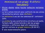 amminoacidi con gruppi r alifatici non polari
