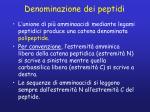 denominazione dei peptidi