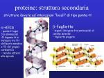 proteine struttura secondaria