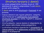 struttura terziaria i domini