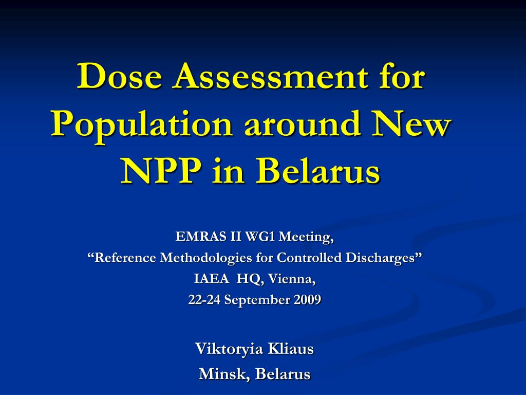 dose assessment for population around new npp in belarus l.