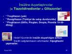 ns line duyarla t r c lar tiazolidinedionlar glitazonlar