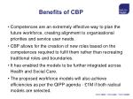 benefits of cbp