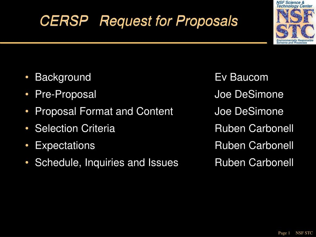 cersp request for proposals l.